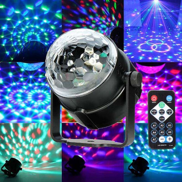 Picture of Multi-application Multi-function Mini Rgb Led Magic Crystal Ball Light Party Disco Lights 3w Strobe Lamp Show With Remote Control
