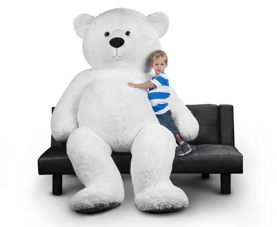 Wish 94 Inch Giant Polar Bear Stuffed Animal