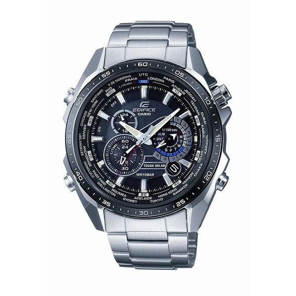 Casio Men's Edifice Tough Solar Stainless Steel Multi Function Watch with Link Bracelet