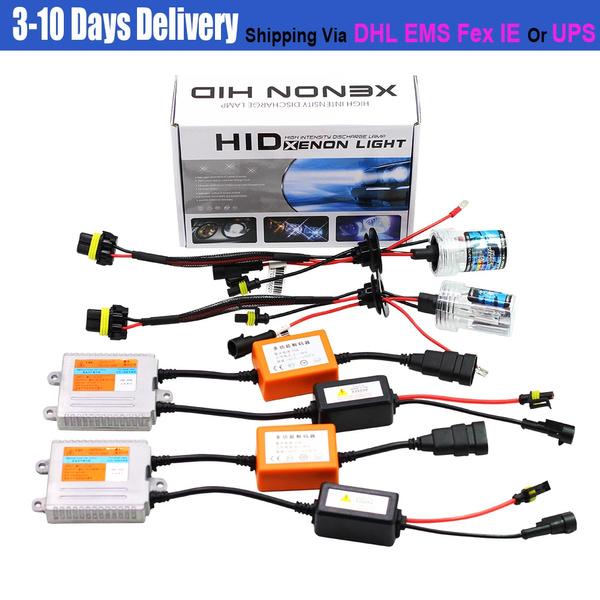 55W 9005 HB3 9006 HB4 H1 H3 H7 H8 H9 H10 H11 880 881 Car Conversion Canbus  HID Xenon Kit AC No Error Ballast Bulb 6000K White Auto Headlight Fog