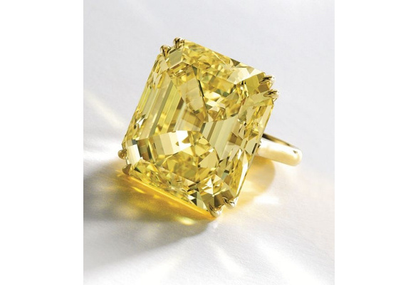 Size 6-10 Fashion women's 18 K Yellow Gold Filled Yellow Topaz zircon Wedding Ring