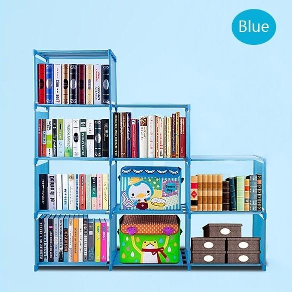 Wish Shipped From Us Korean 9 Shelf Bookcase Storage Book Case Shelves Display Bookshelves Ta