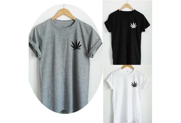 Weed Plant T Shirt Marijuana Cannabis Leaf Graphic Tee Fashion Women T Shirt Casual Cotton Funny Shirt  LW