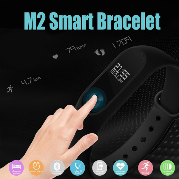 M2 Bluetooth Smart Bracelet Wristband Smart Band 0 42 Inch OLED Screen IP67  Waterproof Support Heart Rate Monitor Message/Call Reminder Health Fitness