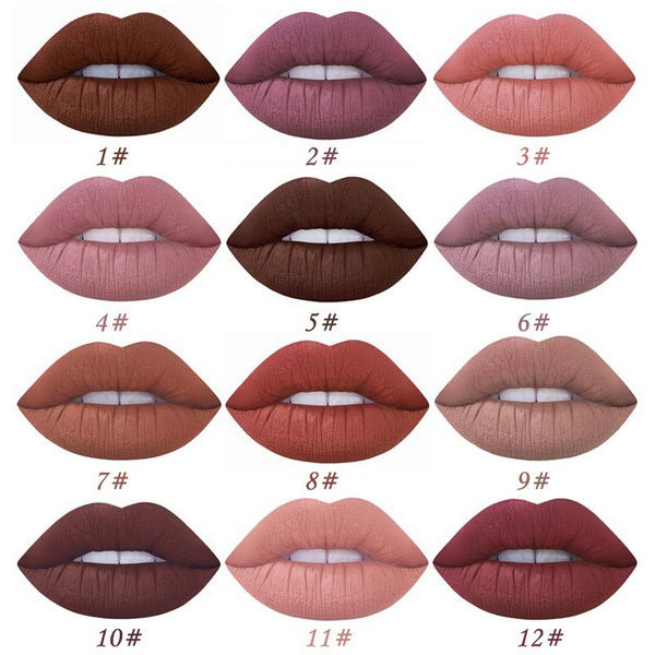 Picture of Fashion Matte Lipstick Waterproof Moisturizer Velvet Liquid Lipstick Nutritious Easy To Wear Long-lasting Makeup Lip Gloss