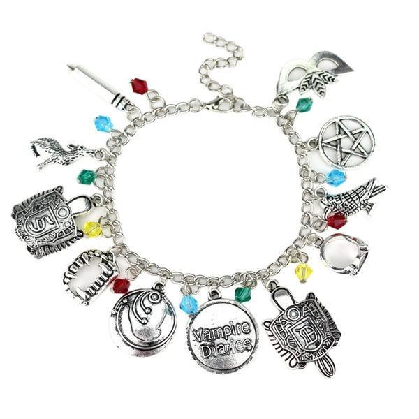 Jewelry, Chain, vampirediarycombinationbracelet, Metal