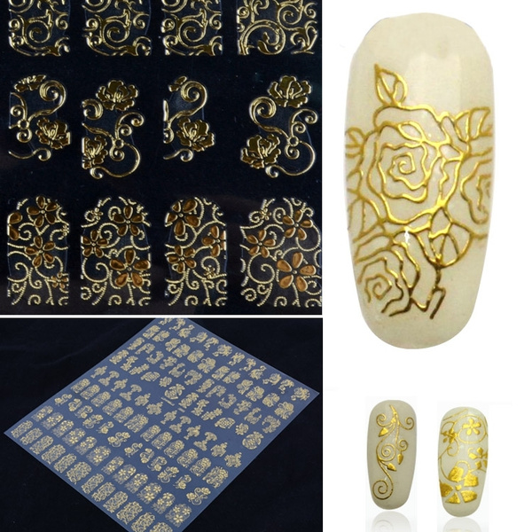 nail decoration, Nails, nail stickers, Flowers
