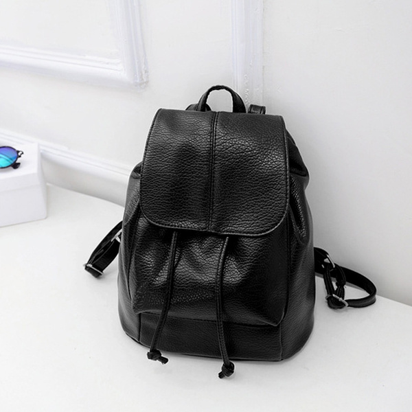 Picture of Korean Leisure Pu Leather Multi-function Women Travel Backpack Schoolbag