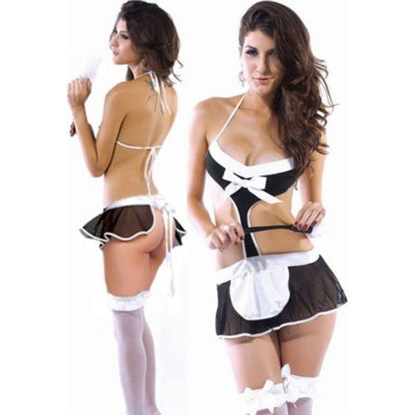 Wish French Maid Costumes Sexy Lingerie Hot Sexy Party Halloween Costumes For Women Fantasy Maid To Clean Costume