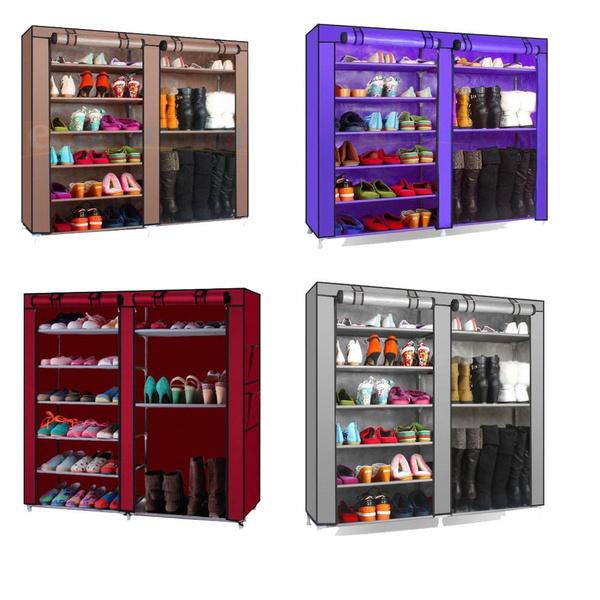 Portable Shoe Rack Shelf Storage Closet Home Organizer Cabinet with Cover