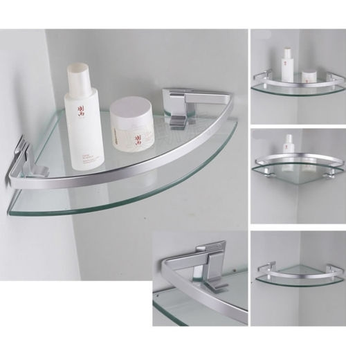 Excellent Horow Aluminum Corner Shelves Wall Mounted Triangle Single Bathroom Glass Shelf Download Free Architecture Designs Scobabritishbridgeorg