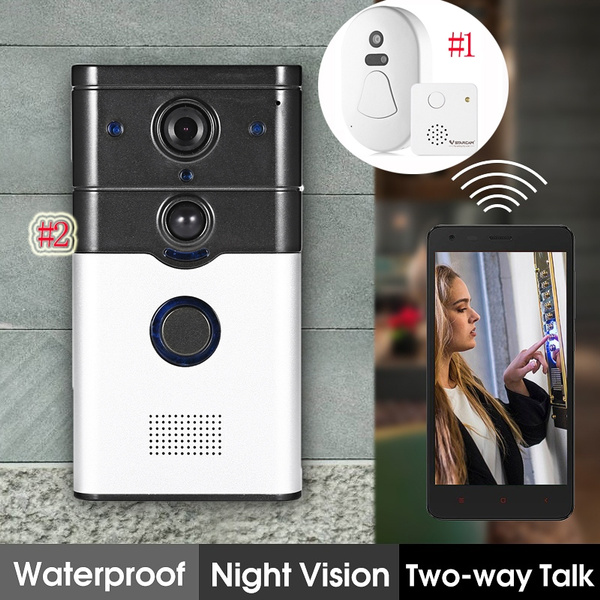 DoorBell 720P HD WIFI Wireless Video Camera Viewer Night Vision Door Phone  Ring Bell Alarm Smart Home Security System