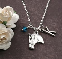 monogram, horse, Necklace, Jewelry
