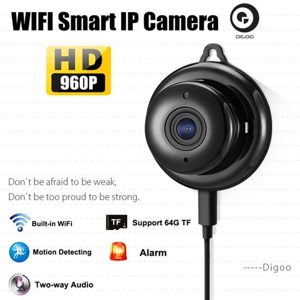 Picture of Usa Stock + Fast Shipping Digoo - 960p Wireless Wifi Smart Ip Camera Baby Care Monitor Security Night Vision Audio Video Home Wall Hook Color Black