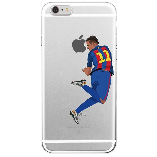 brand new 99b24 9ddf2 Cristiano Ronaldo Soccer Sport Stars Pattern Silicone Case Cover Clear  Football Phone Cases for iPhone 6 6s 5 5s SE 7/7Plus