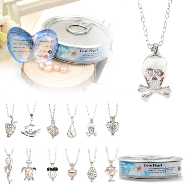 Picture of Love Best Wish Necklace Pearl Necklace Oyster Drop Pendant Necklace