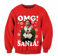 3dpirntsweatshirt, Plus Size, Christmas, 3dmensweatshirt