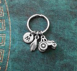 monogram, golden, Personalized Jewelry, Key Chain