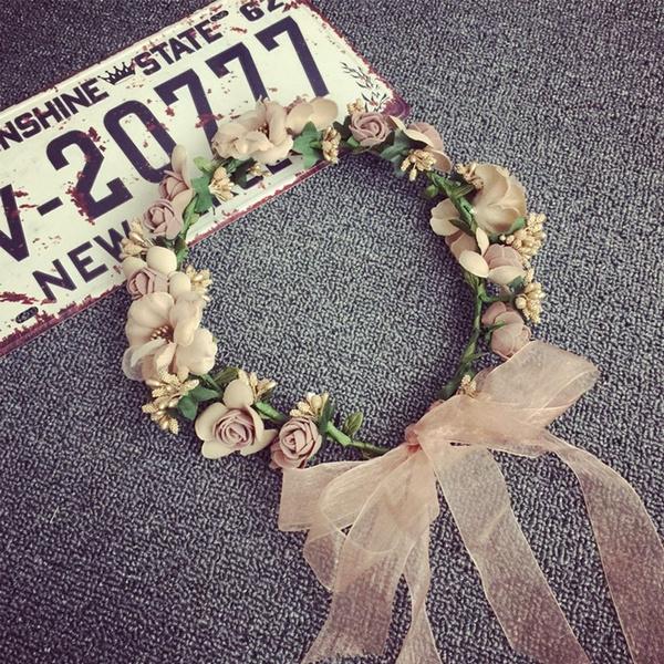 Women, Fashion, floralheaddres, flowerhairband