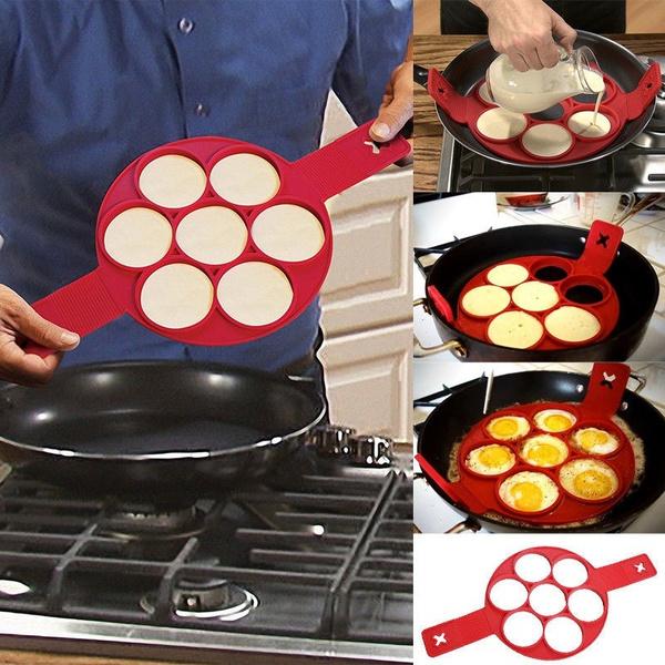 Picture of Non Stick Flippin' Fantastic Nonstick Pancake Maker Egg Ring Maker Kitchen Hot