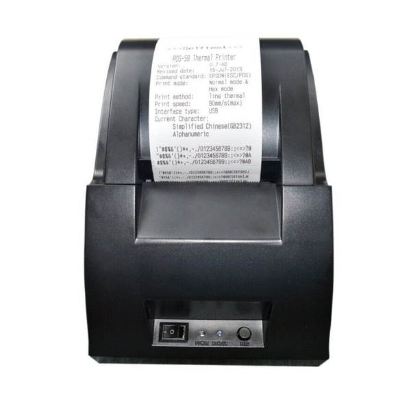 ZJ-5890C Portable 58mm USB Thermal Dot Receipt Printer for ESC/POS System  90mm/s