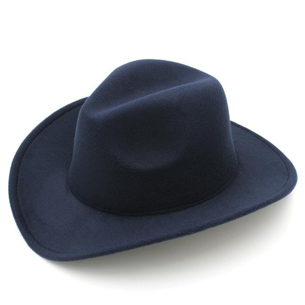 477e699bb 2018 Fashion Kids Boys Girls Felt Cowboy Hat Wool Blend Children Western  Cowgirl Cap Size XS