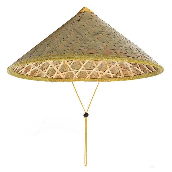 Chinese Oriental Vietnamese Straw Bamboo Sun Hat Farmer Outdoor Fishing Rice Hat