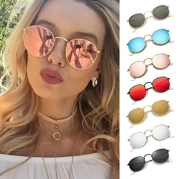 Picture of New Women Colorful Round Style Sunglasses Luxury Metal Eyeglasses Frame Uv400 Sunglasses Charm Girl Casual Eyewear Summer Outdoor Accessories Lunettes De Soleil