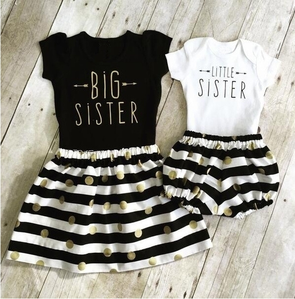 cute, Family, letter print, Dress