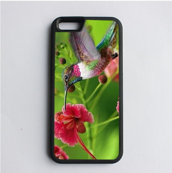 Cool Pink Flowers Hummingbird cell phone case cover for iphone 4 4s 5 5s SE  5c 6 6S Plus 7 7PLUS for Samsung galaxy S3 S4 S5 S6 edge S7 edge NOTE 3