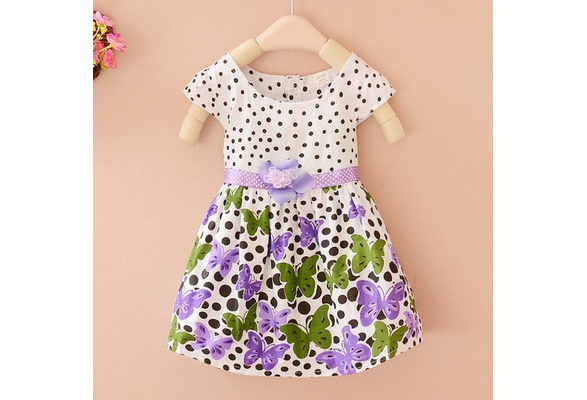 Baby Toddler Girl Clothes Flower Princess Dress Wedding Party Pageant Fancy