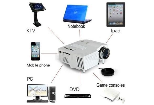 1080P HD Mini LED Home MulitMedia Theater Cinema USB TV VGA SD HDMI Mini Projector / projecteur/ Beamer /Proyector /proiettore/Projekteur