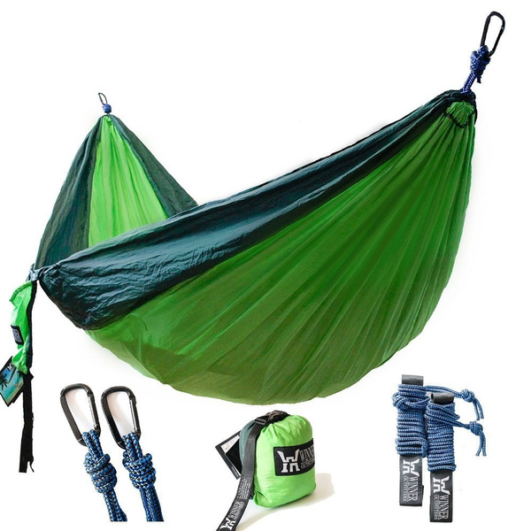 Parachute Double Hammock For Backpacking Yard Beach Travel Winner Outfitters Double Camping Hammock Camping Lightweight Nylon Portable Hammock Cots Hammocks Camping Furniture