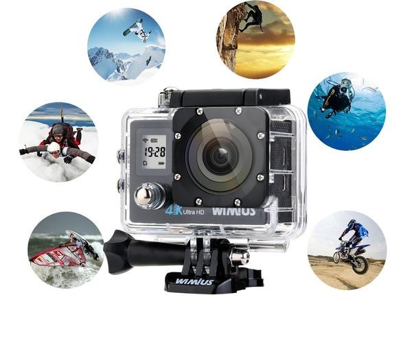 Mini Camera Subacquea : Wish wimius q action camera k wifi full hd p videocamera