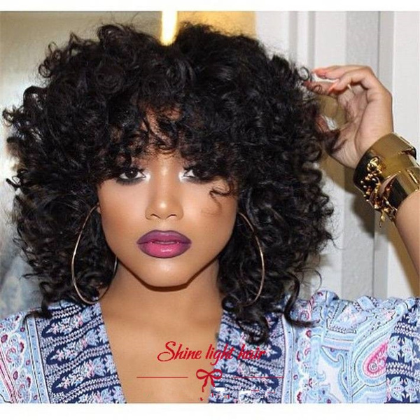 Cheap Afro Curly wig Perruque Short Synthetic