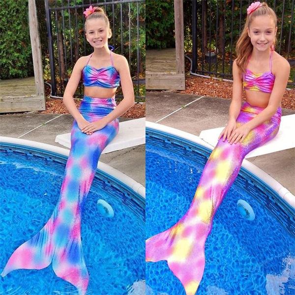3pcsbikiniset, lovely, kidsswimsuit, swimmablecostume