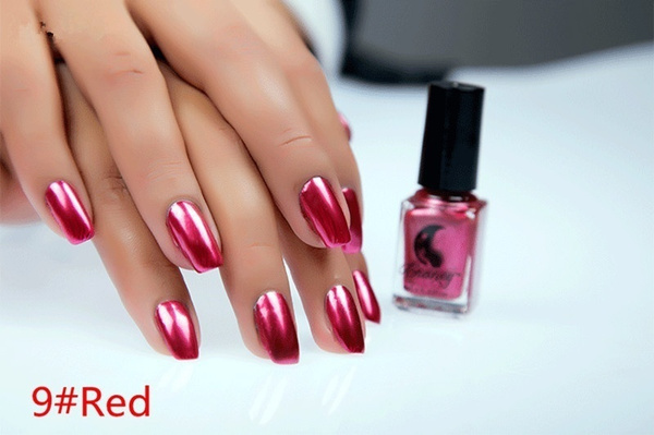 Wish | 12 Color Women\'s Fashion New Metallic Mirror Nail Polish Sexy ...