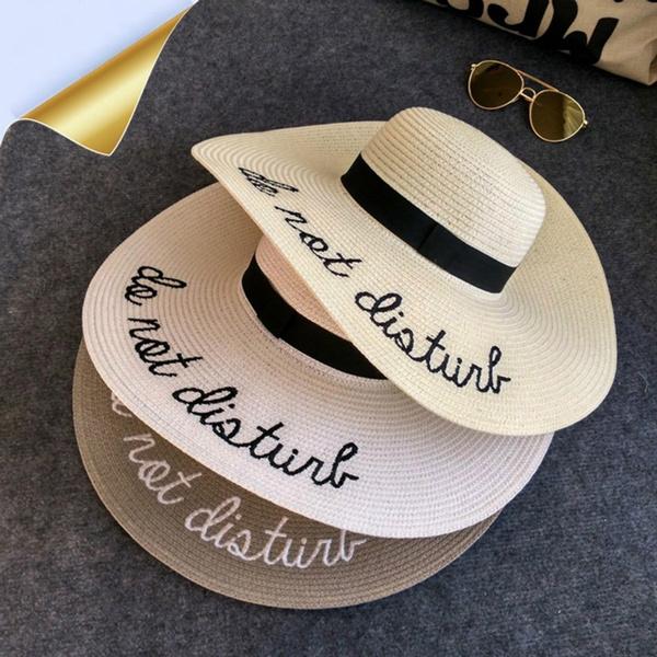 63fa01da 2017 Summer Women Sun Hat Ladies Wide Brim Straw Hats Outdoor ...