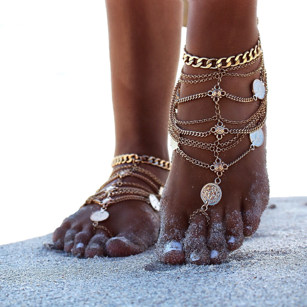 Fashion Accessory, Sandals, Anklets, Chain