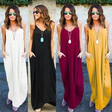 Fiber, sundress, long dress, Dress