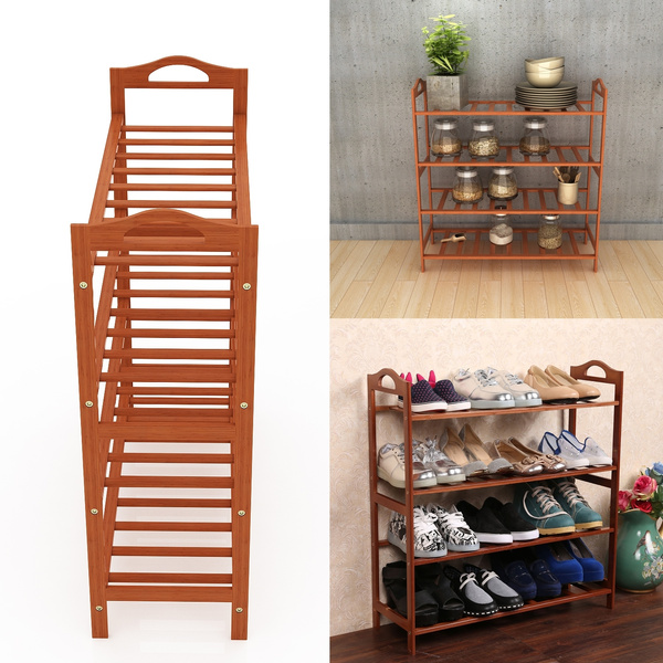 4 Tiers Shoe Rack Home Entryway Shoe Shelf Storage Organizer