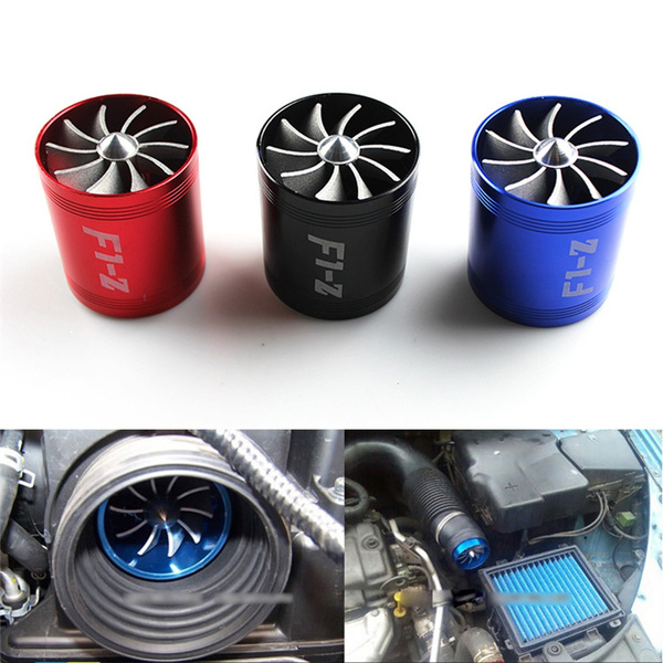 Black/ Red/ Blue Auto Parts Supercharger Turbonator Air Intake Fuel Saver  Turbo Fan JUY