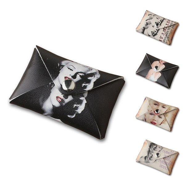 Picture of Marilyn Monroe Retro Wallet Current Soft Face Student Coin Purse Short Design Pu Leather Coin Money Bag