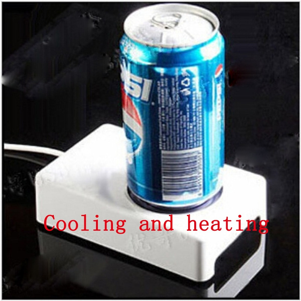 USB Mini Fridge Can Cooler Mug Cup Warmer Refridgerator Heater Heating  Cooling Function Mug Cup Coaster