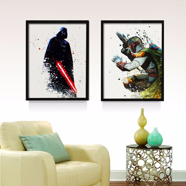 Wish | Star Wars Canvas Wall Art Movie Poster Canvas Painting POP ...