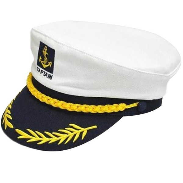 11544c1b345 Vintage Yacht Captain Navy Marine Skipper Ship Sailor Military Nautical Hat  Cap | Wish