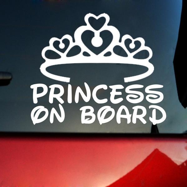 PRINCESS ON BOARD baby  Child Window Bumper Car Sign Decal Sticker