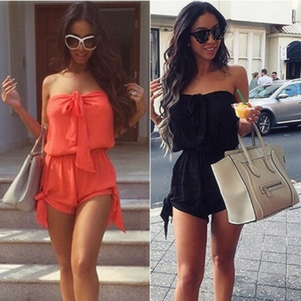 Picture of Sexy Mini Playsuit Ladies Jumpsuit Summer Shorts Beach Casual Dress