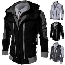 men coat, Fashion, Hoodies, long sleeved shirt