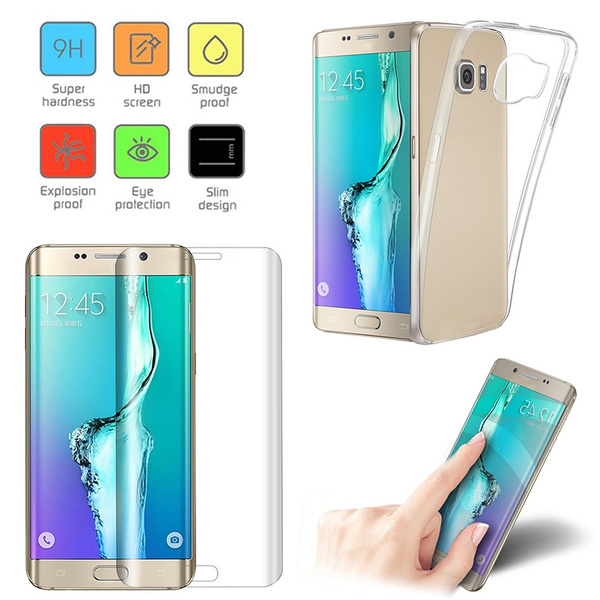 Picture of Ultra Thin Clear Gel Case Cover + 3d Curved Soft Film For Samsung Galaxy S8 Plus/s8/s7 Edge/s7/s6 Edge Plus